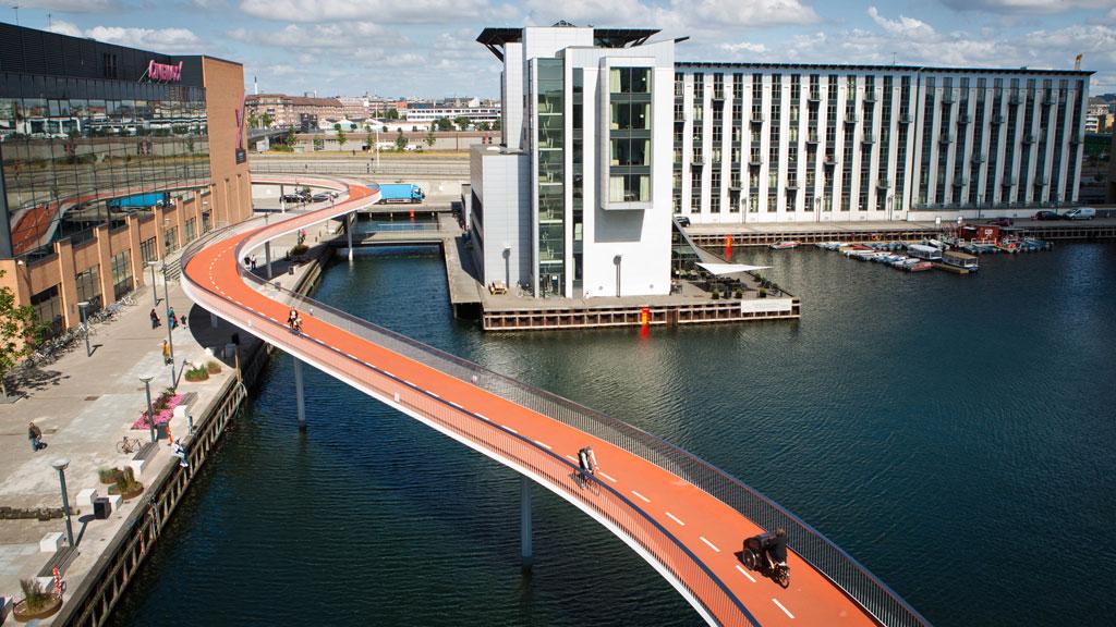 Cykelslangen, autoroute cyclable à Copenhague (Image : www.visitcopenhagen.com)