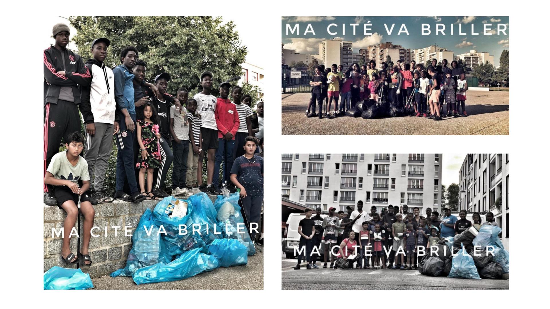 Challenge #gargescleanchallenge dans les quartiers Lamartine, aux Doucettes et au CDI | Photo : Espoir et création