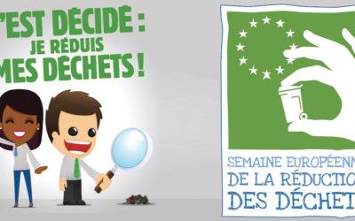 Semaine européenne de la réduction des déchets 2019 : agissons ensemble !